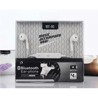 Earphone bluetooth-headset bt-10 stereo
