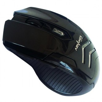 Mouse wireless Advance Gaming 501C-hitam